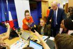Participation du ministre Jean-Michel BLANQUER, à la Code Week (semaine européenne du code), au Ministère de l'Éducation nationale, le jeudi 12 octobre 2017 - © Philippe DEVERNAY